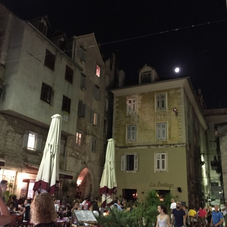 Another courtyard lit up by the beautiful moon
