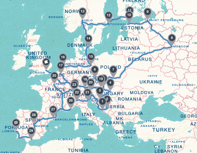 media map, trip map, attractions map, tariff map, on map my itinerary