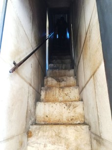 Stairs leading up to the Bell Tower