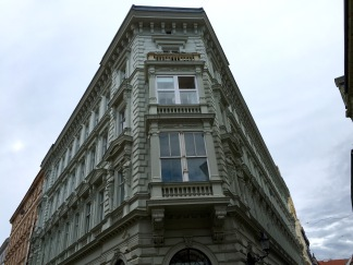 A fancy corner of a building