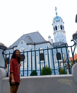 The blue church. Unlike other churches we've visited, this one only opens for mass. Also, I was freezing in my poor outfit choice.