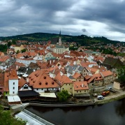 The view from the castle at Cesky Krumlov