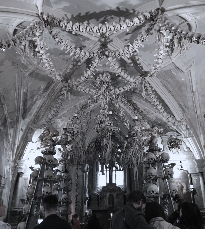 The Bone Chapel was decorated by 40,000 human bones. Most of them died from the many wars that occurred here. Others were victims of the plague that also killed John the Blind.