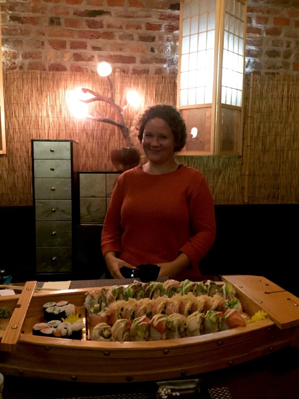 Proof that I was with another human being and a sushi boat.