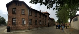 Barracks in Auschwitz.
