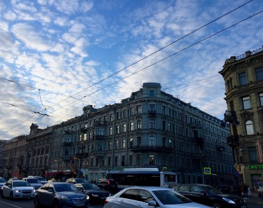 Rush hour in St Petersburg