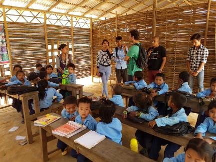 A makeshift school in Hatpate.