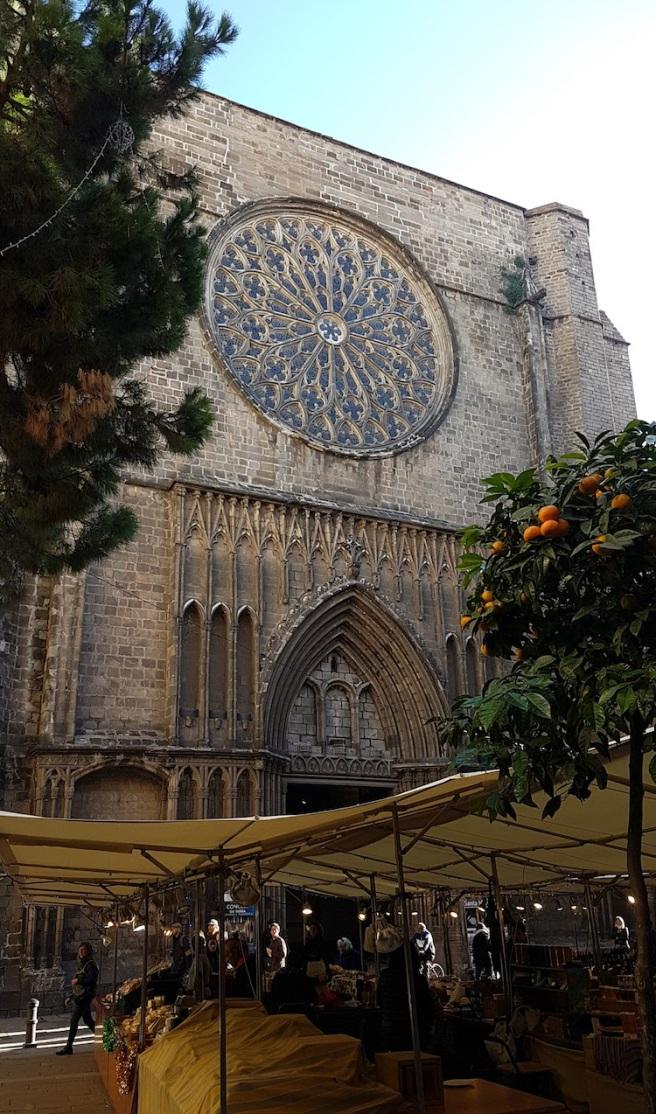 Barcelona church and market