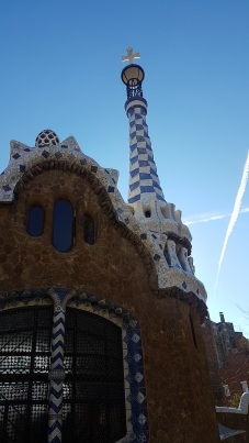 Reminds me of smurf town. Sorry Gaudi.