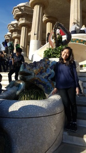 The famous lizard in Parc Guell