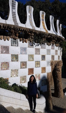Loved the mosaic walls.